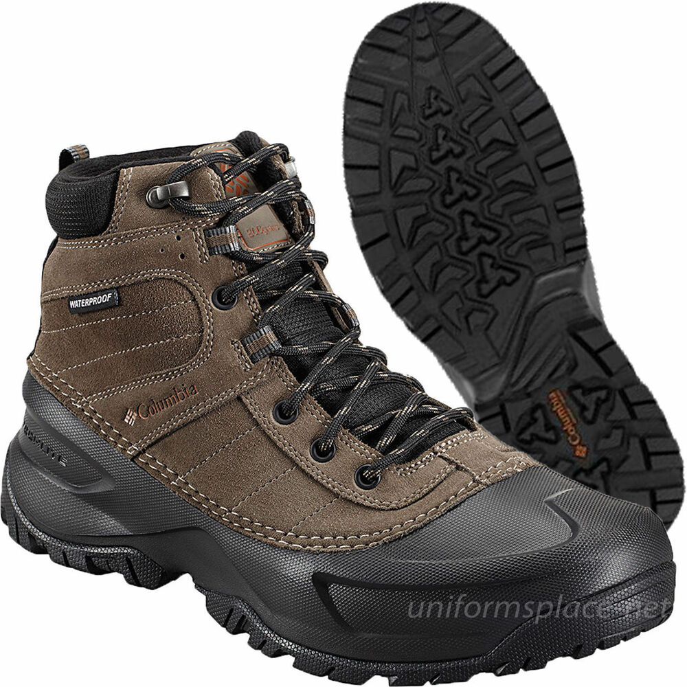Columbia Leather Boots Men Snowblade Waterproof Lace Up