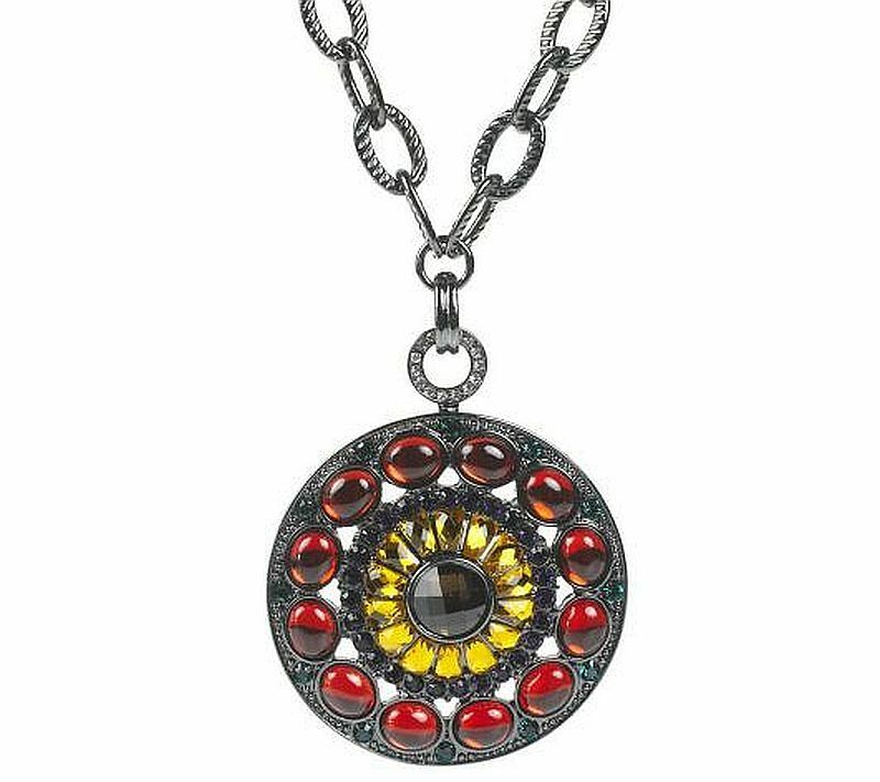 Joan rivers stunning large jeweled medallion pendant w for Joan rivers jewelry necklaces