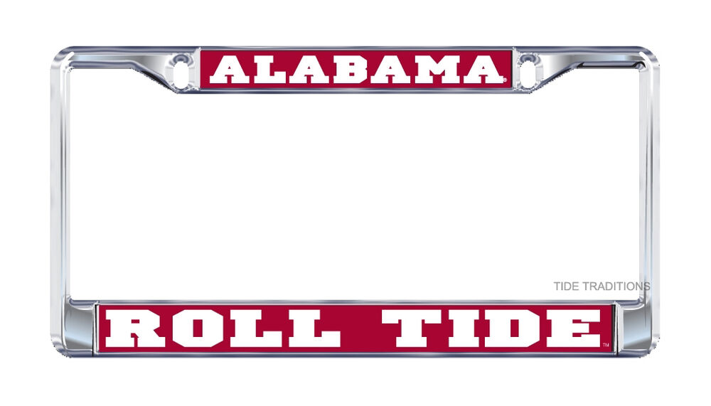 University Of Alabama Quot Roll Tide Quot Chrome License Plate