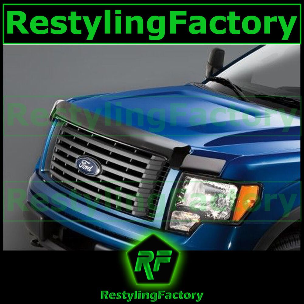 Rain Guards For Trucks >> Ford F150 09-14 2014 Truck Smoke Bug Shield Deflector Hood Guard Protector | eBay