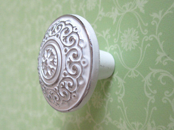 dresser knob pulls drawer knobs pull kitchen cabinet door handles white silver ebay. Black Bedroom Furniture Sets. Home Design Ideas
