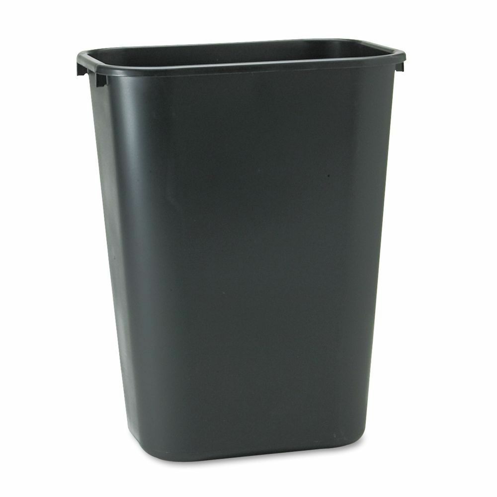 Black rubbermaid soft molded plastic office home kitchen Kitchen garbage cans
