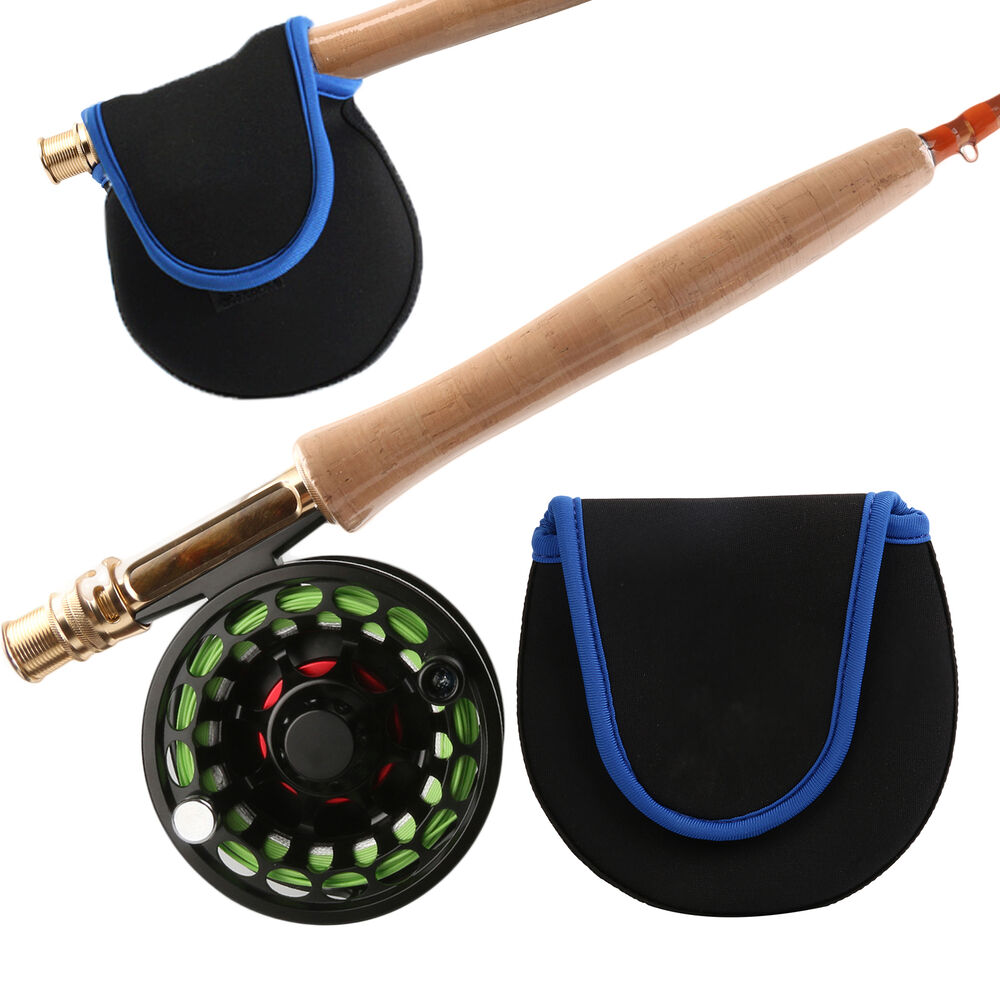 Fly fishing reel bag carry case 130mmx 130mm salmon for Fishing reel bag