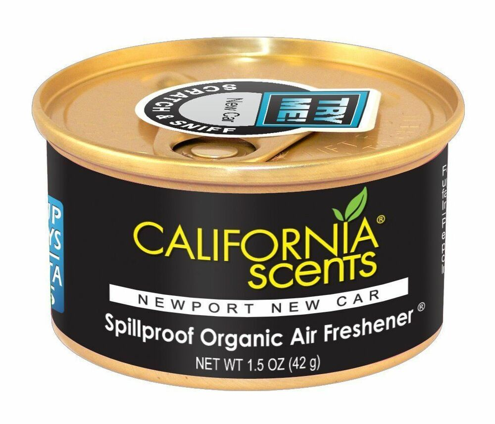 california scents spillproof organic air fresheners 12ct newport new car ebay. Black Bedroom Furniture Sets. Home Design Ideas