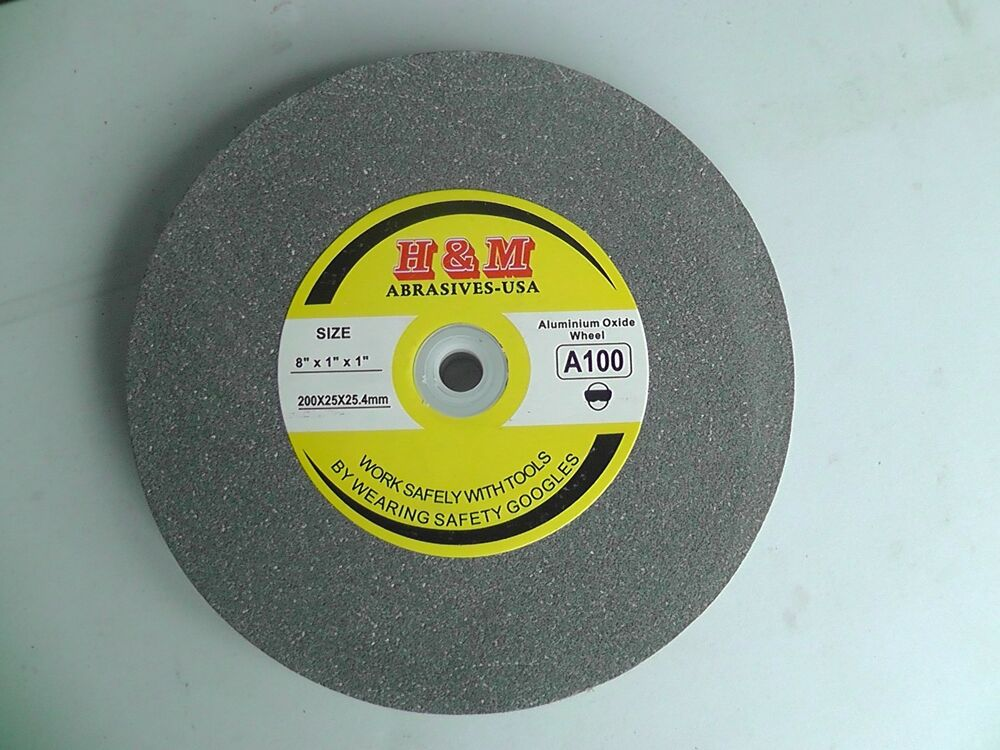 Vitrified Grinding Wheel 8 X1 X1 46 Grit Bench Grinder Ebay