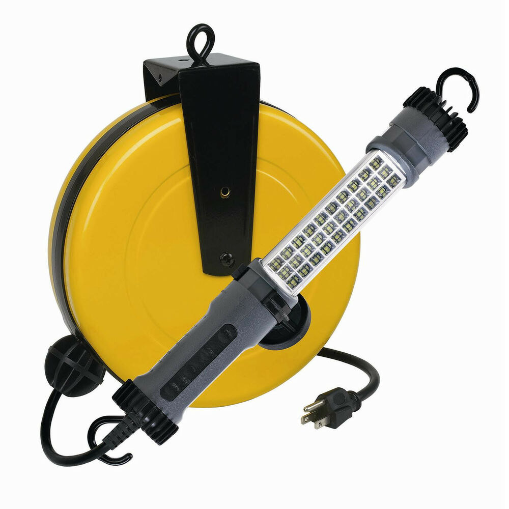LED Retractable Reel Work Repair Light 300 Lumen Alert