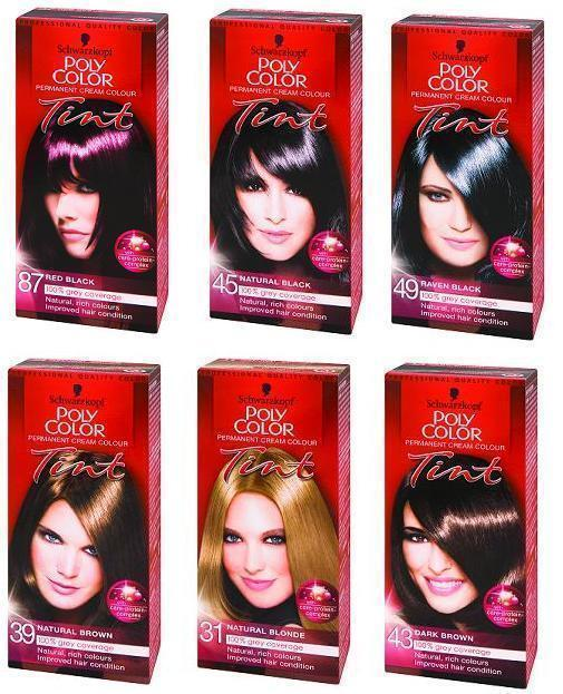Schwarzkopf Hair Color Poly Color 10 Shades To Choose