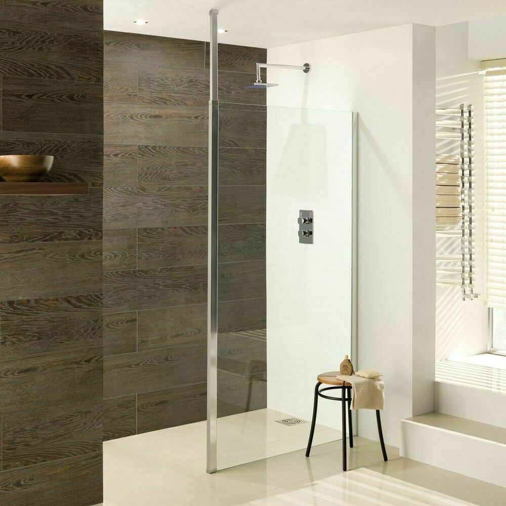 Luxury square walk in shower screen complete with for Luxury walk in showers