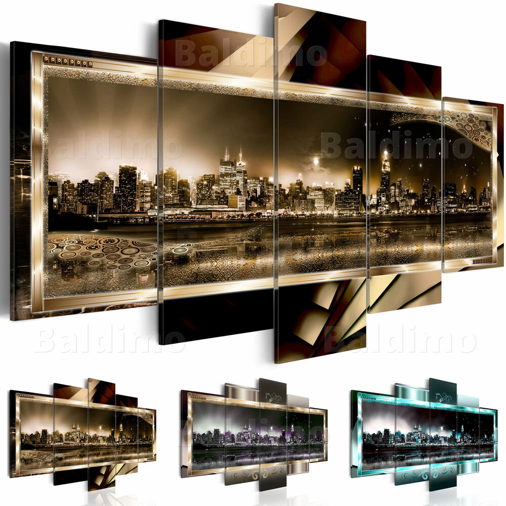 leinwand bilder xxl fertig aufgespannt bild new york abstrakt 020111 27 ebay. Black Bedroom Furniture Sets. Home Design Ideas