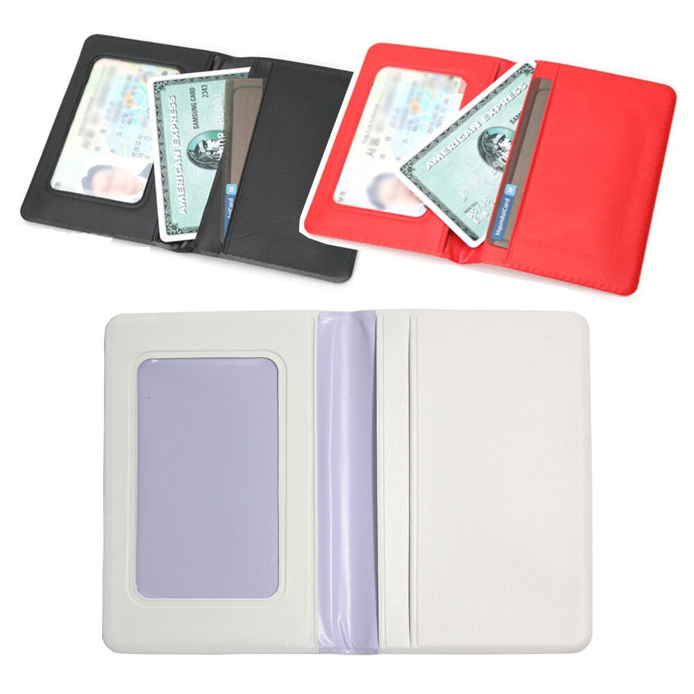 Id Credit Card Holder Case Wallet Faux Leather Business