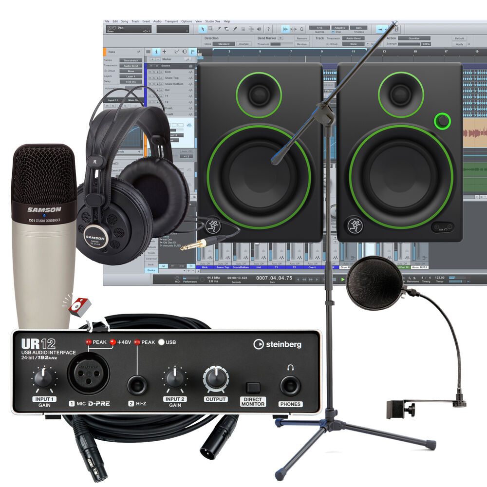 Enjoyable Steinberg Ur12 Interface W Mackie Cr4 Monitors Home Recording Largest Home Design Picture Inspirations Pitcheantrous