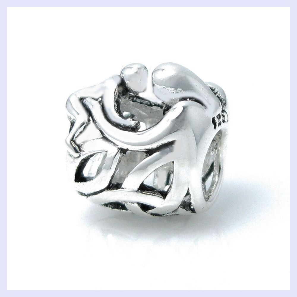Love Silvers: STR Silver Love Mother Baby Forever Hug Celtic Bead F