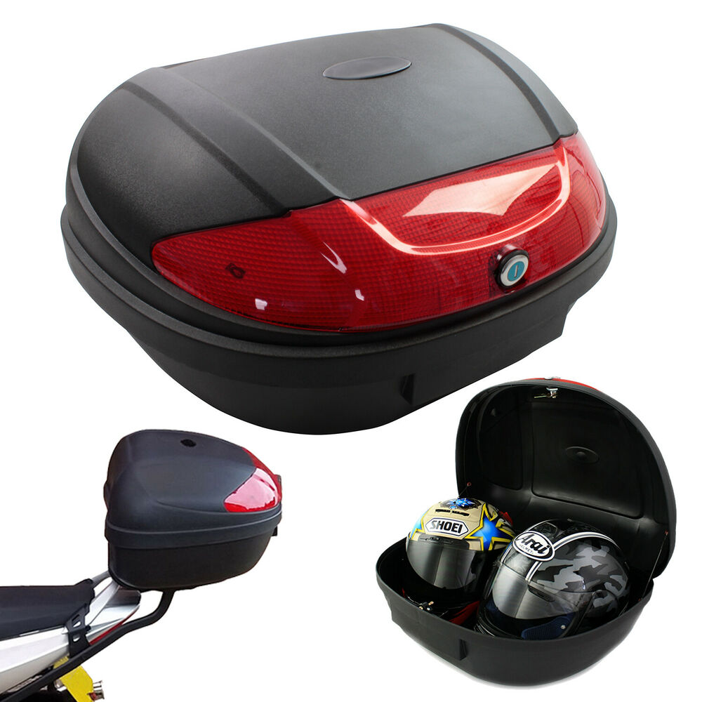 Motorcycle extra large xl 52l universal fitting luggage for Best helmet for motor scooter