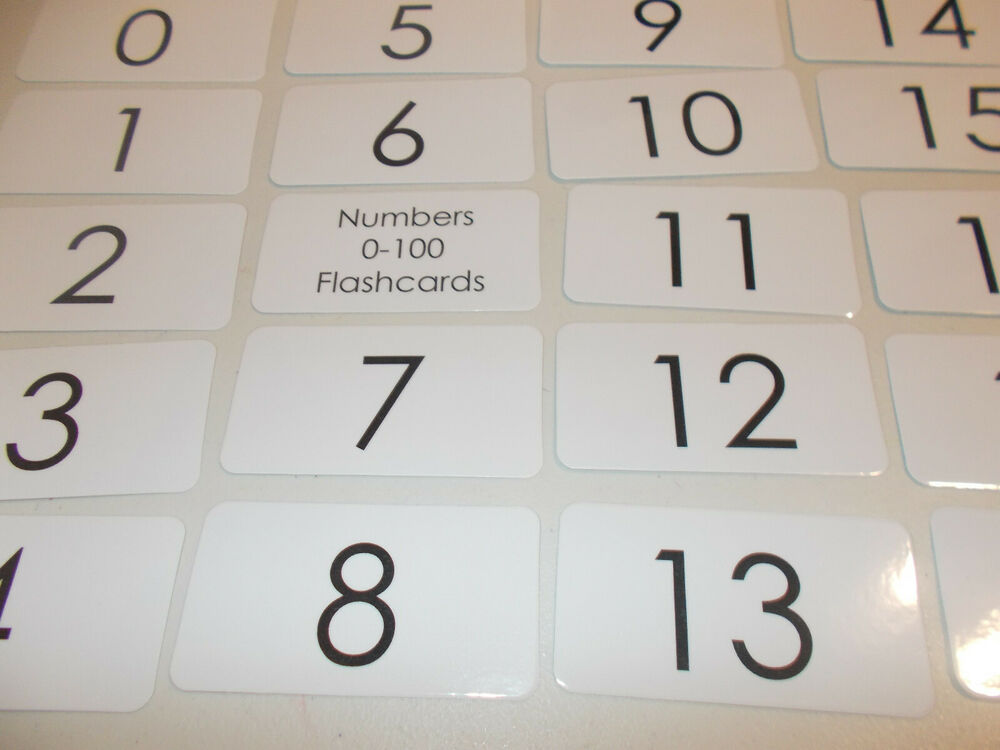 100 Numbers Flash Cards. Numbers 1-100 Educational Flash