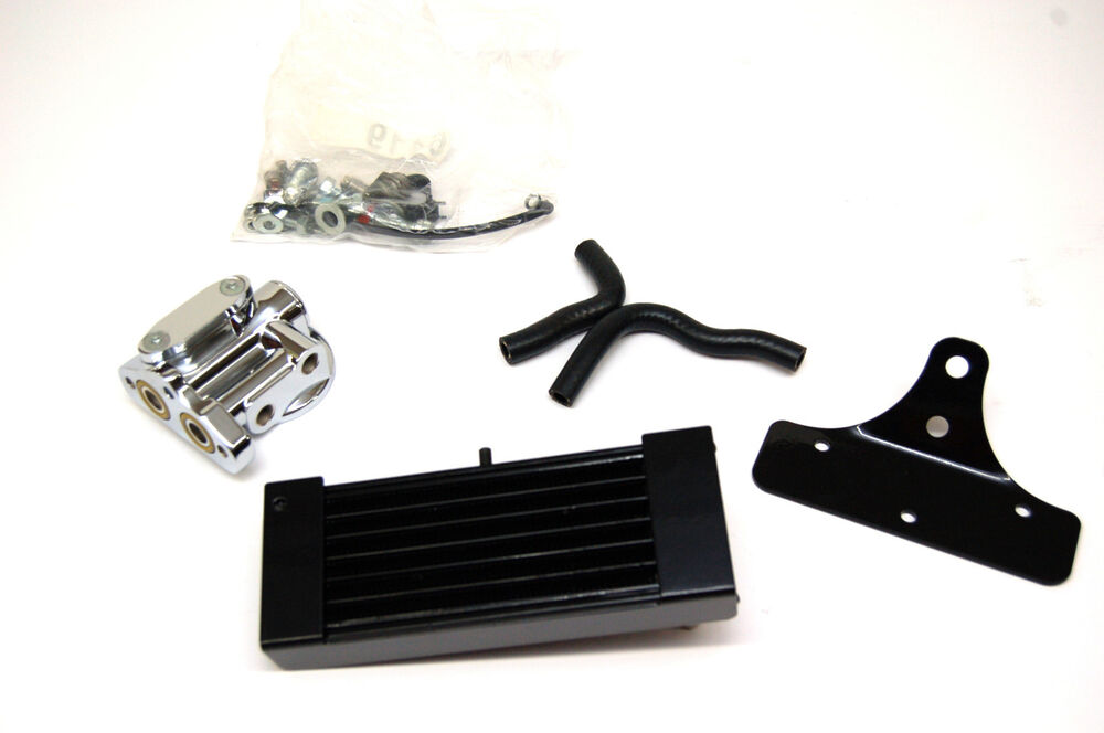 Harley Engine Oil Coolers : New harley dyna oil cooler with chrome thermostat