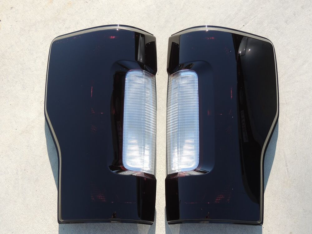 Custom 2017 F250 Superduty Smoked Oem Tail Lights Non