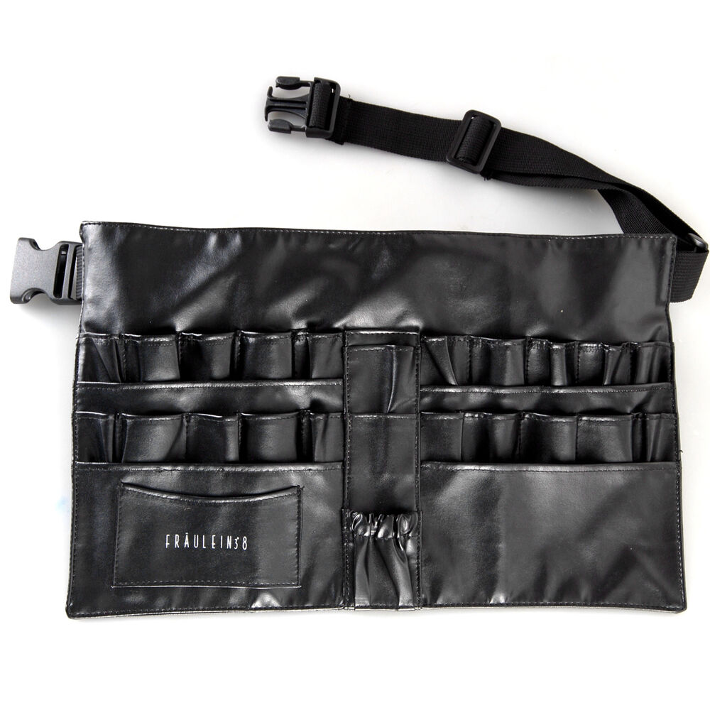 Pro Cosmetic Makeup Brush Apron Bag Artist Belt Strap Holder Toolbelt Black | EBay