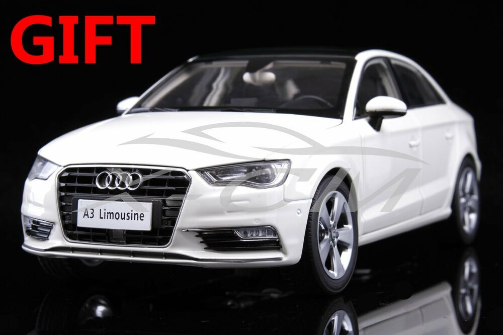 car model audi a3 limousine 1 18 white small gift ebay. Black Bedroom Furniture Sets. Home Design Ideas