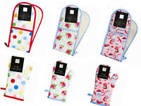 NEW SINGLE/DOUBLE OVEN GLOVES MITT COTTON FLORAL NOVELTY KITCHEN COOKING