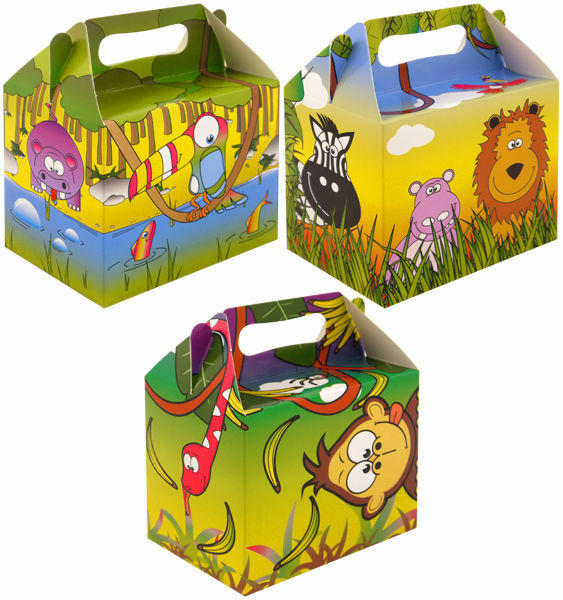Jungle Party Food Lunch Boxes Childrens Animals Gift Bags