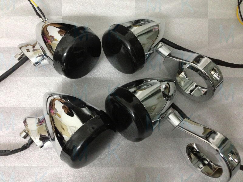 Motorcycle Chrome Front Rear Led Turn Signal Light 41mm