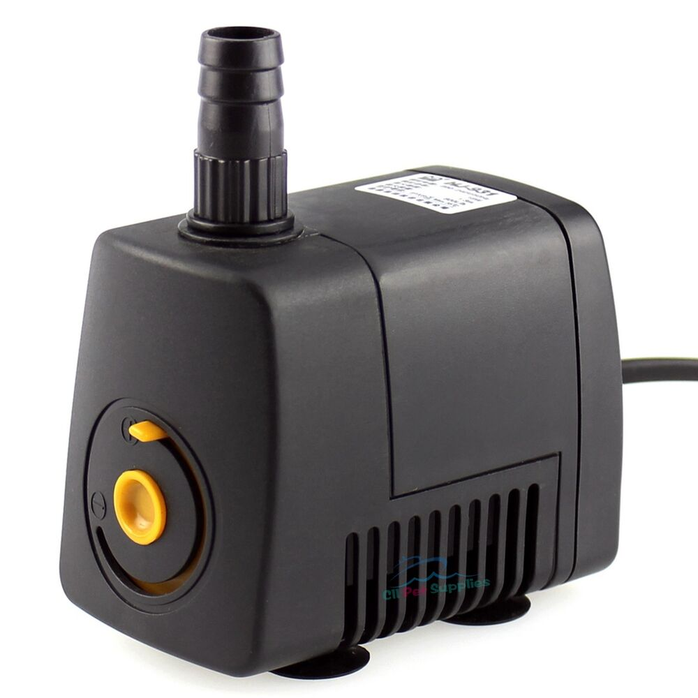210 GPH Aquarium Fish Tank Adjustable Submersible Pump Powerhead Water ...