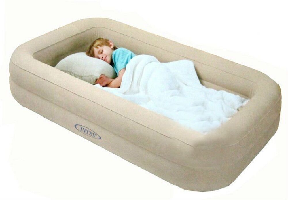 Intex Kidz Travel Bed With Rail Hand Pump Sleep Infant