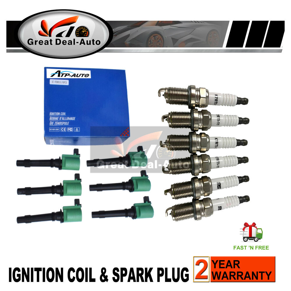 6 X Ford Falcon Ba Bf Ignition Coils Spark Plug 0 7mm Fg