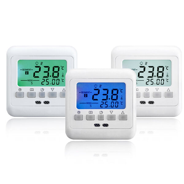 digital thermostat digitaler raumthermostat bodenf hler fu bodenheizung 16a neu ebay. Black Bedroom Furniture Sets. Home Design Ideas