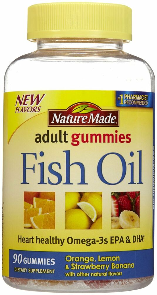Nature made adult fish oil 90 gummies heart healthy omega for Epa dha fish oil