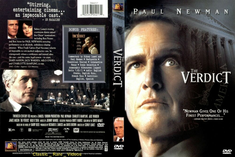 the verdict new dvd 2004 paul newman jack warden