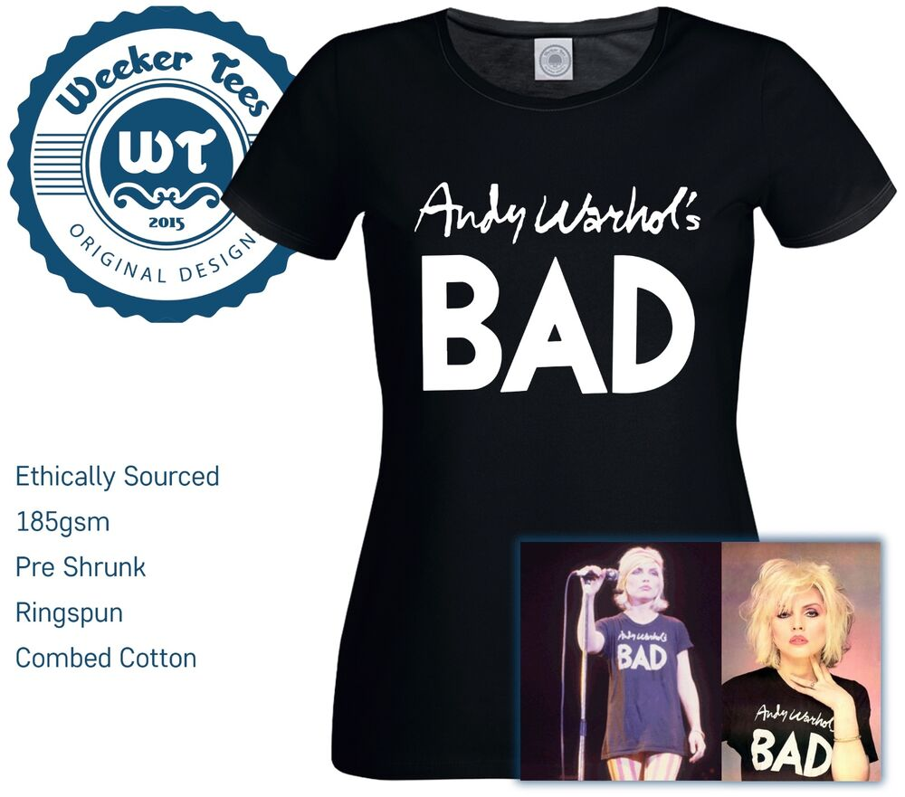 922a36fb Details about Worn By Debbie Harry of Blondie - Andy Warhols Bad New T-Shirt  Great Fancy Dress