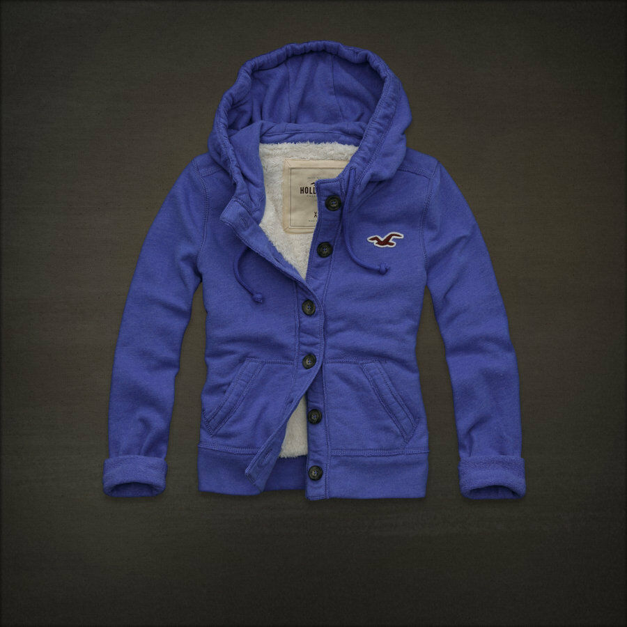 HOLLISTER By Abercrombie & Fitch Hoodie Jacket Outwear