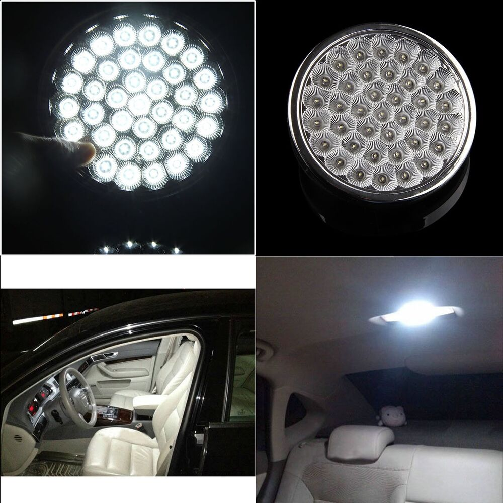 1xbright white 37smd car roof dome ceiling interior led light lamp 12v universal ebay. Black Bedroom Furniture Sets. Home Design Ideas