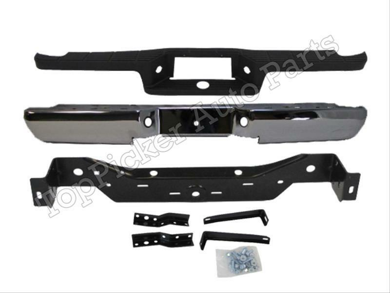 1993 2011 ford ranger styleside rear step bumper chrome top pad hitch brackets ebay. Black Bedroom Furniture Sets. Home Design Ideas