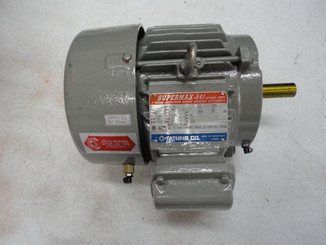 Tatung supermax 841 3 phase induction motor premium for Single phase motor efficiency
