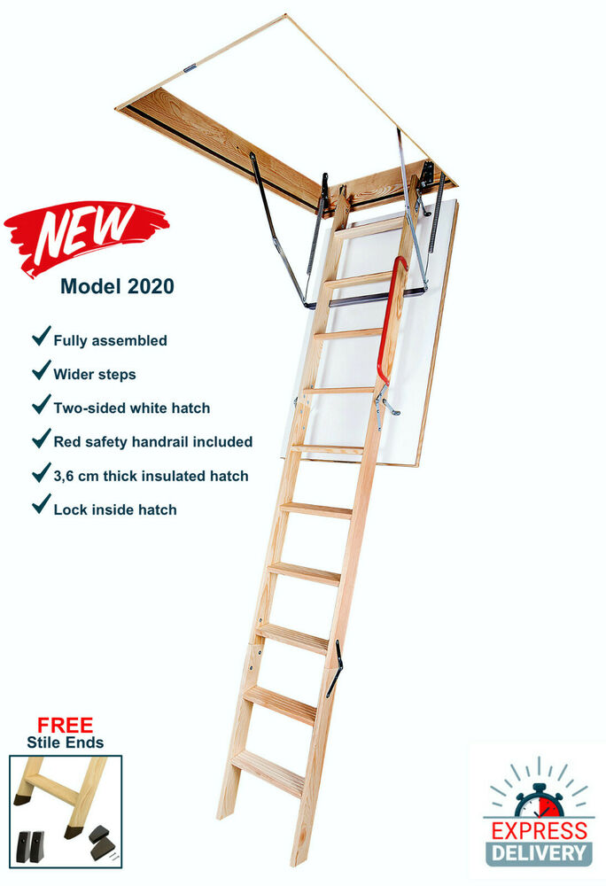 Optistep Wood Timber Folding Loft Ladder Amp Hatch 70cm X