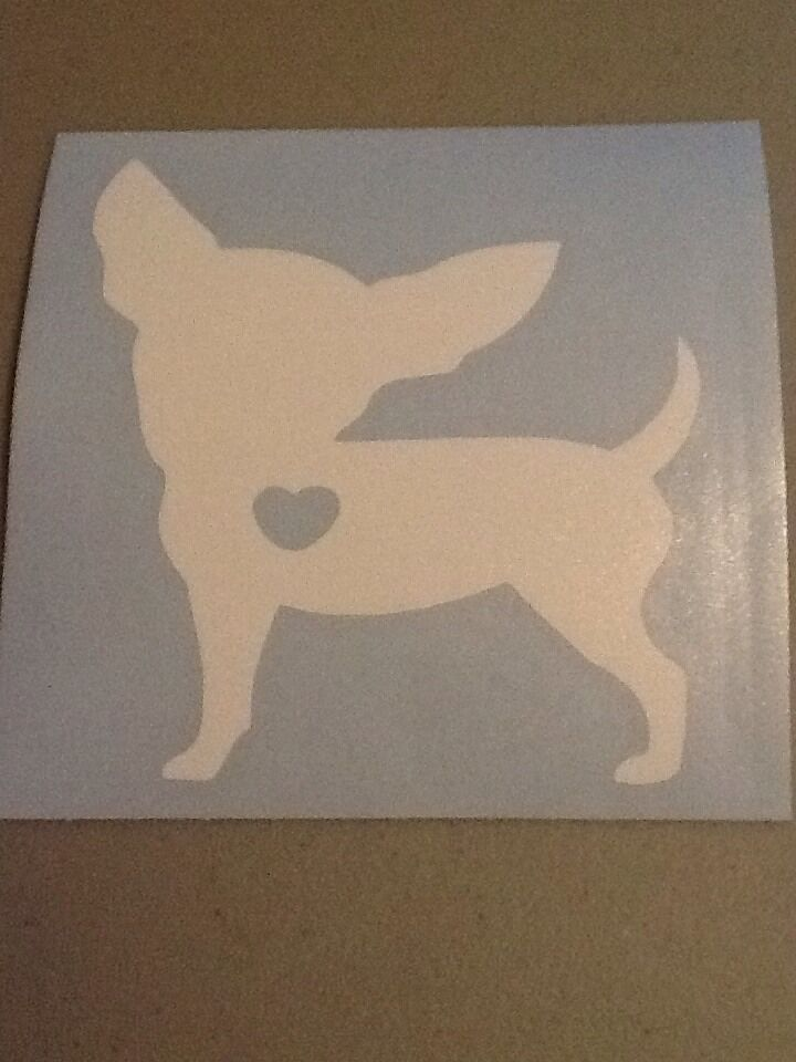 Chihuahua Vinyl Die Cut Decal Window Car Laptop Pet Love