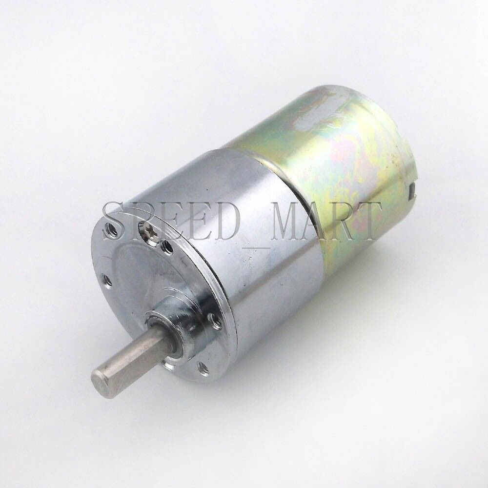 Reversible 37mm 12v Dc 300 Rpm Gear Box Speed Control