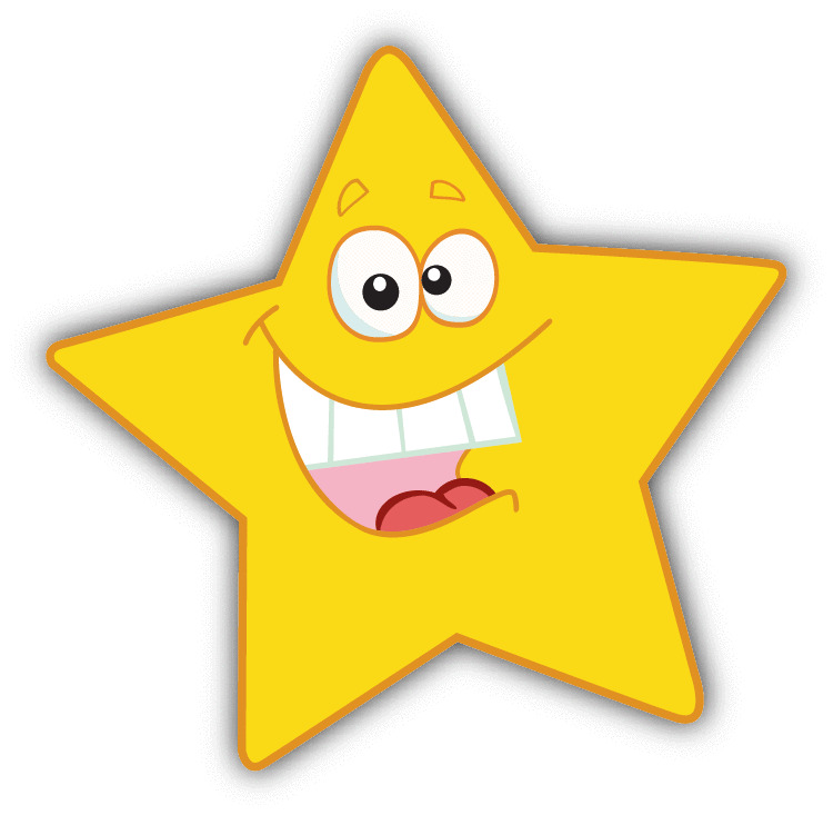 Star smile kids cartoon funny car bumper sticker decal 5 for Images of stars for kids