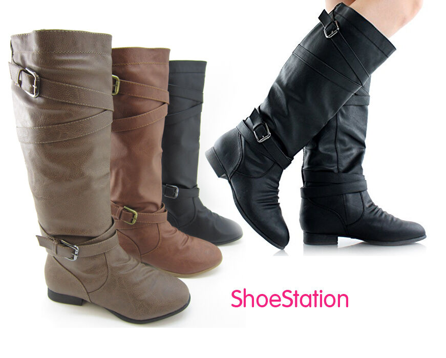 new womens boots shoes knee high fashion faux