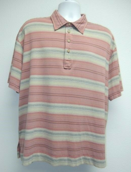 tommy bahama mens xxl short sleeve polo shirt silk cotton