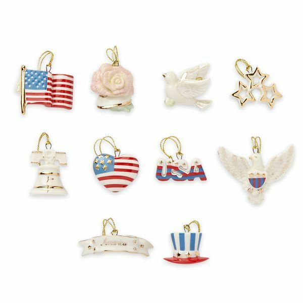 Independence day patriotic 10 ornaments for tree new in box ebay