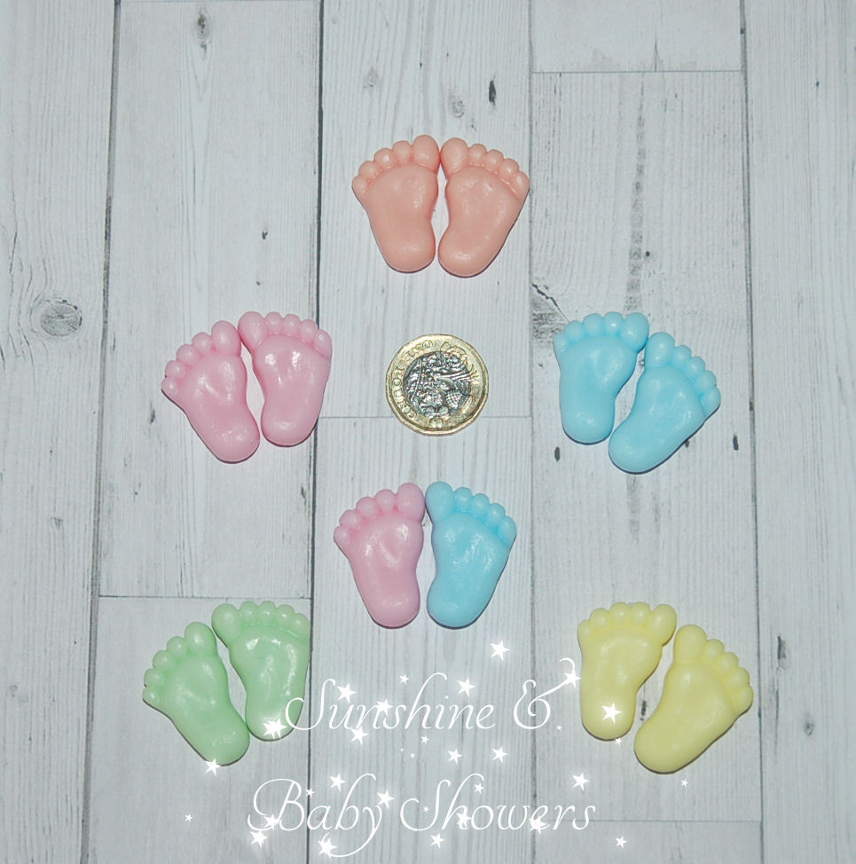 TINY FEET SOAPS Cute Baby Shower Favours 5 Pairs Of Little Feet Boy Girl  Neutral