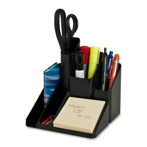 Office desk organizer holder black storage pen tray sorter - Desk organizer sorter ...