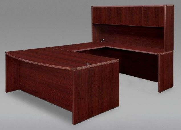 Bowfront U Shape Executive Office Desk Shell With Hutch
