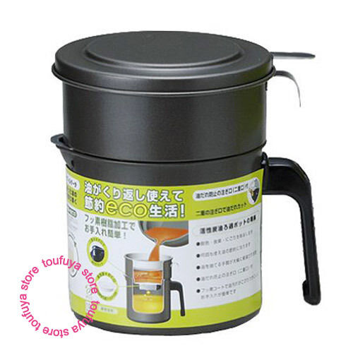 Cooking frying oil pot strainer with filter refresh and