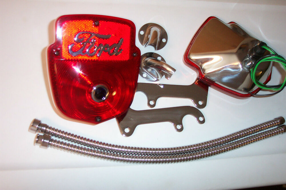F100       ford    truck    tail       light    kit  all stainless with two