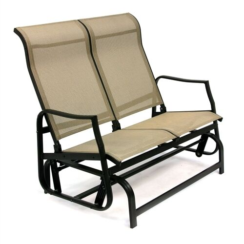 Classic Patio Swing Loveseat Glider Sling Style Rocking Chair For Two Ebay