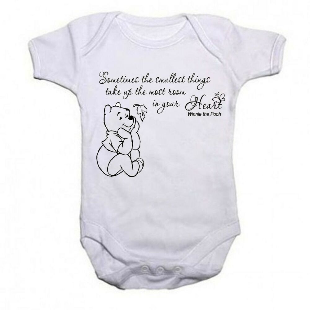 Winnie The Pooh Beautiful Quote Funny Babygrow Baby vest ...